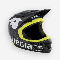 Casco Integral MTB ENDURO DH BLUEGRASS BRAVE NEGRO AMARILLO