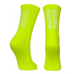 Calcetines PaCto Carbon Valwindcycles - YELLOWFLUO
