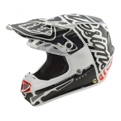 Casco DH MX TROY LEE DESIGNS SE4 POLYACRYLITE FACTORY BLANCO 2018
