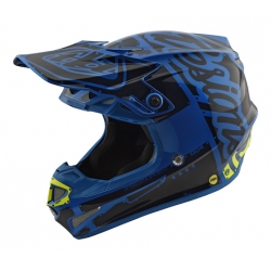 Casco DH MX TROY LEE DESIGNS SE4 POLYACRYLITE FACTORY AZUL 2018