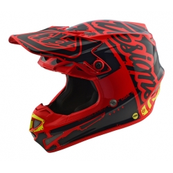 Casco DH MX TROY LEE DESIGNS SE4 POLYACRYLITE FACTORY ROJO 2018