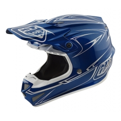 Casco DH MX TROY LEE DESIGNS SE4 POLYACRYLITE PINSTRIPE AZUL 2018