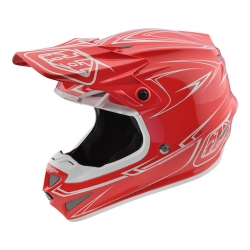 Casco DH MX TROY LEE DESIGNS SE4 POLYACRYLITE PINSTRIPE ROJO 2018