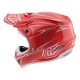 Casco DH MX TROY LEE DESIGNS SE4 POLYACRYLITE PINSTRIPE ROJO