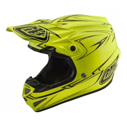 Casco DH MX TROY LEE DESIGNS SE4 POLYACRYLITE PINSTRIPE AMARILLO 2018