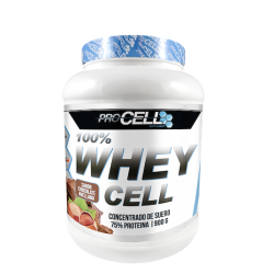 Proteína PROCELL WHEY 100% PROTEIN CHOCOLATE AVELLANA 900 gramos