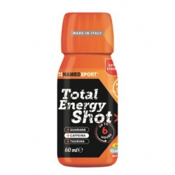 Pack 25 unidades NAMEDSPORT TOTAL ENERGY SHOT NARANJA 60ML