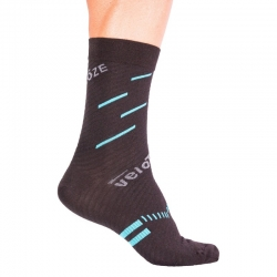 Calcetines VELOTOZE MERINO COMPRESSION ACTIVE AZUL
