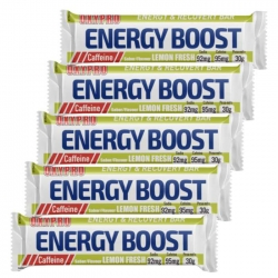 5 barritas de Gominola OXYPRO ENERGY BOOST 30 gramos LEMON FRESH