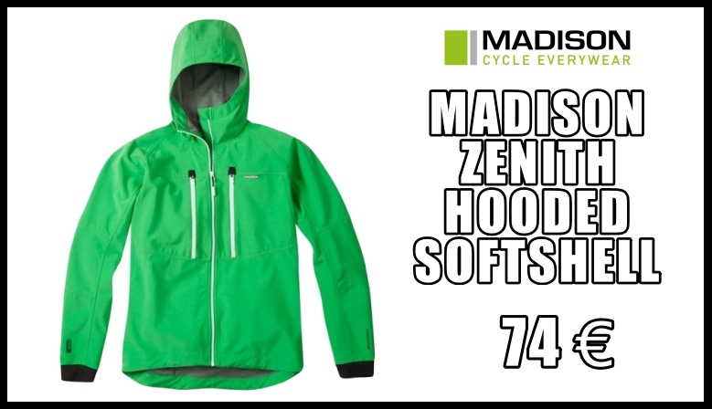 Chaqueta Impermeable MADISON ZENITH HOODED SOFTSHELL VERDE 2018