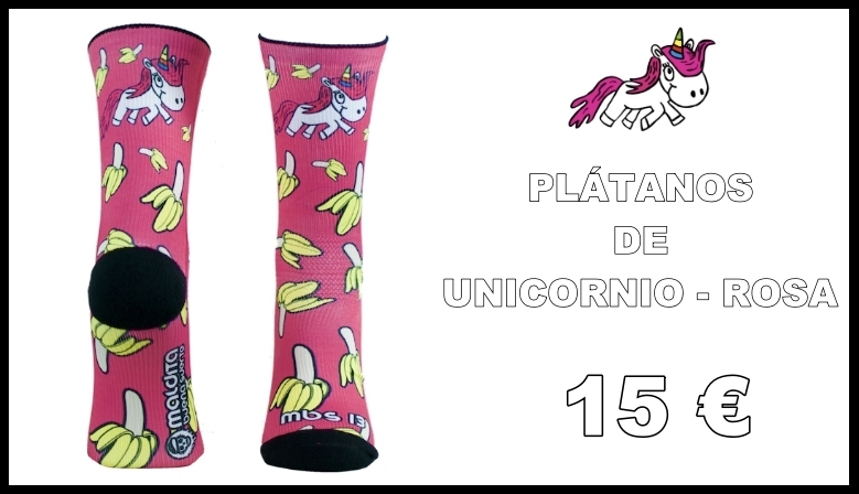 Calcetines SoftAir Valwindcycles - PLÁTANOS DE UNICORNIO - ROSA